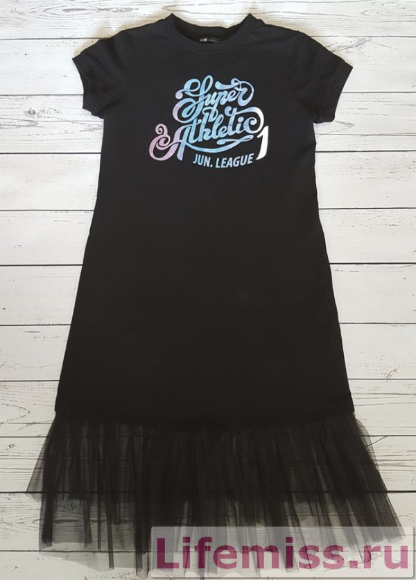 Платье футболка с фатином